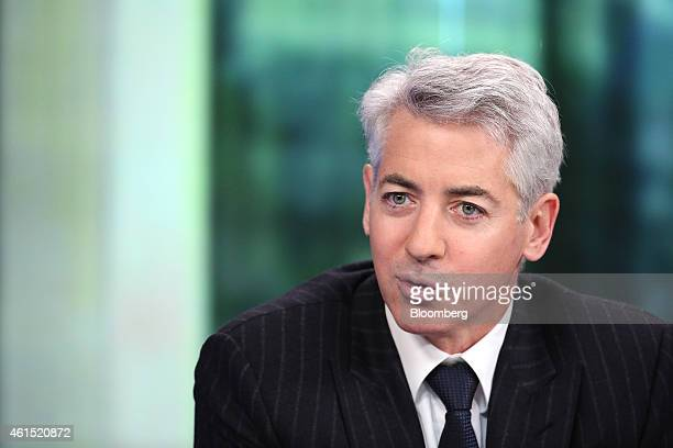 William 'Bill' Ackman founder and chief executive officer of Pershing Square Capital Management LP speaks during a Bloomberg Television interview in...