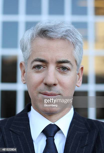 William 'Bill' Ackman founder and chief executive officer of Pershing Square Capital Management LP poses for a photograph following a Bloomberg...