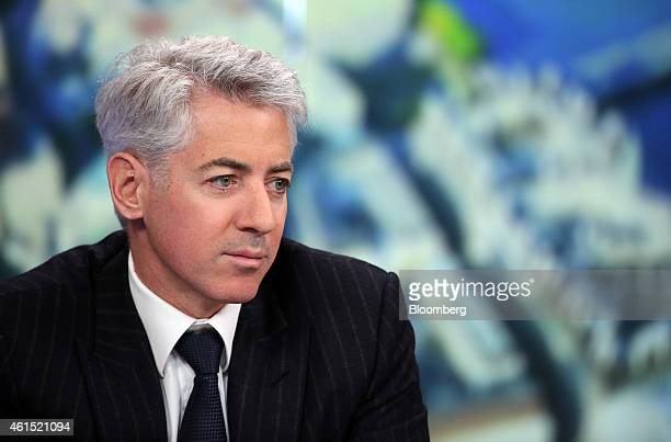 William 'Bill' Ackman founder and chief executive officer of Pershing Square Capital Management LP pauses during a Bloomberg Television interview in...