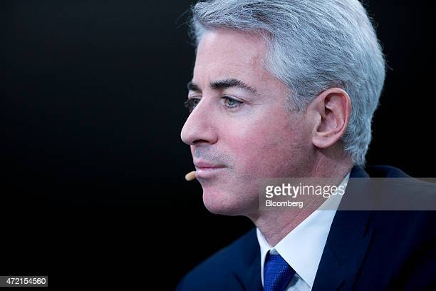 William 'Bill' Ackman founder and chief executive officer of Pershing Square Capital Management LP listens to a question during a Bloomberg...