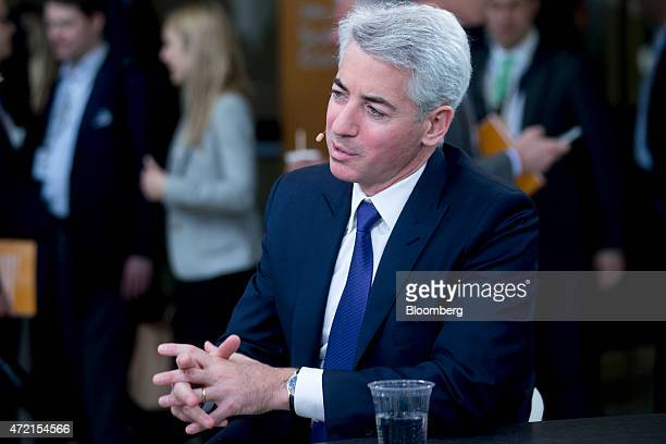 William 'Bill' Ackman founder and chief executive officer of Pershing Square Capital Management LP speaks during a Bloomberg Television interview at...