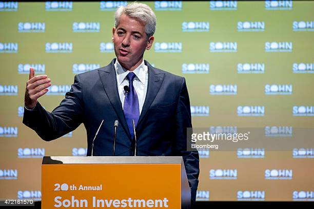 William 'Bill' Ackman founder and chief executive officer of Pershing Square Capital Management LP speaks during the 20th Annual Sohn Investment...