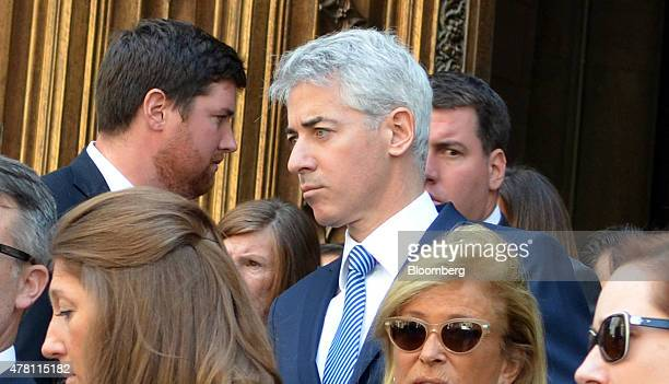 William 'Bill' Ackman founder and chief executive officer of Pershing Square Capital Management LP outside St Patrick's Cathedral in New York US on...