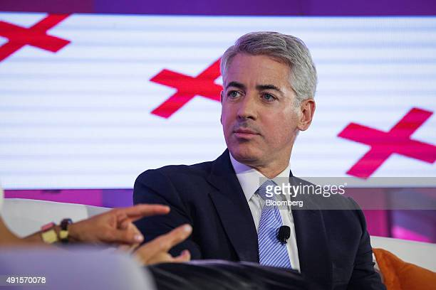 William 'Bill' Ackman founder and chief executive officer of Pershing Square Capital Management LP listens during an interview at the Bloomberg...