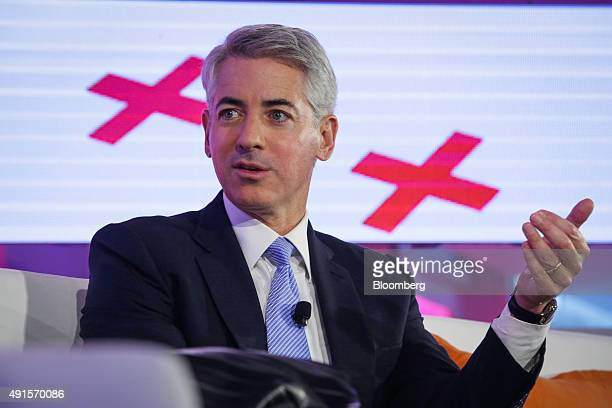 William 'Bill' Ackman founder and chief executive officer of Pershing Square Capital Management LP speaks at the Bloomberg Markets Most Influential...