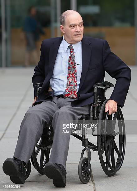 William Binney former intelligence official of the US National Security Agency turned whistleblower leaves the building after testifying at the...