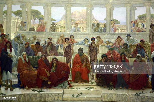 William Blake Richmond 18431921 'An audience in Athens during the representation of the Agamemnon' 1884 The picture depicts the auditorium of the...