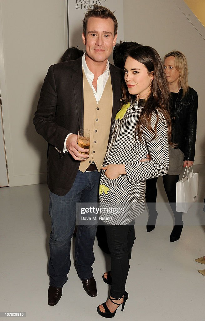 William Blanks Blaney (L) and Tallulah Harlech attend the Conde Nast College of Fashion & Design opening party at 16/17 Greek Street on April 30, 2013 in London, England.