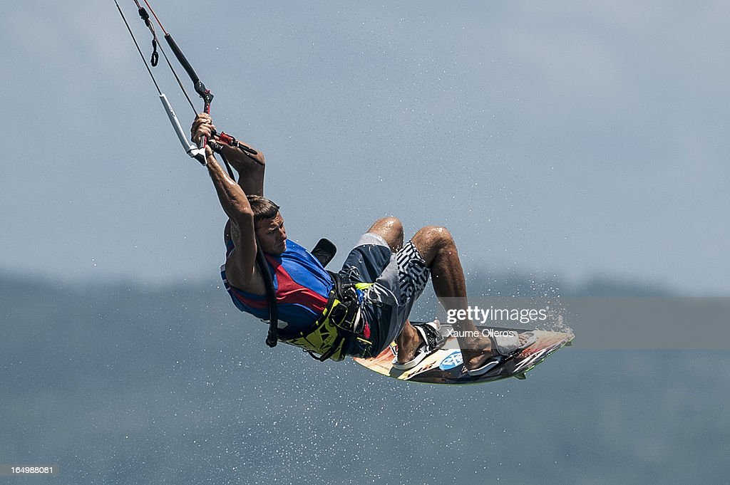 William Bourget of France competes on freestyle during day five of the KTA at Boracay Island on March 30, 2013 in Makati, Philippines.