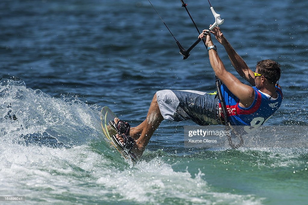 William Bourget of France in action during day four of the KTA at Boracay Island on March 29, 2013 in Makati, Philippines.