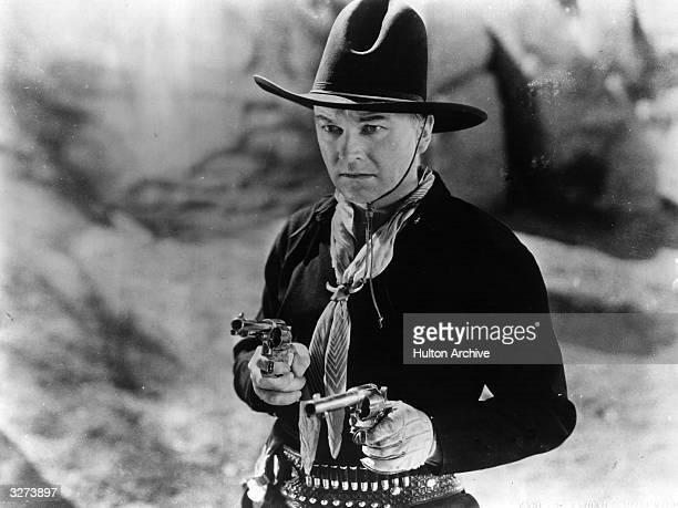 William Boyd the American leading man in his most famous role as Bill Cassidy in 'Hopalong Cassidy' directed by Howard Bretherton for Paramount
