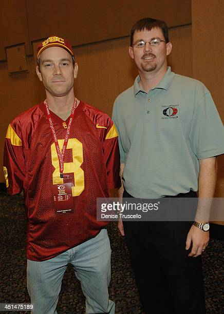William Bragg and Principal WCOFF Owner Dustin Ashby attend the 2008 World Championship of Fantacy Football Celebrity League at the Hilton Hotel and...