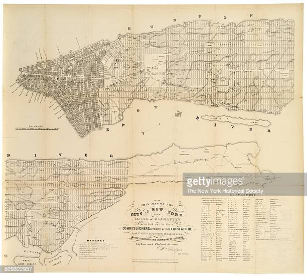 William Bridges's original map was reduced to 1/2 scale by Hayward 'for DT Valentine's Manual 1853' from 'one in the possession of James R Swords...