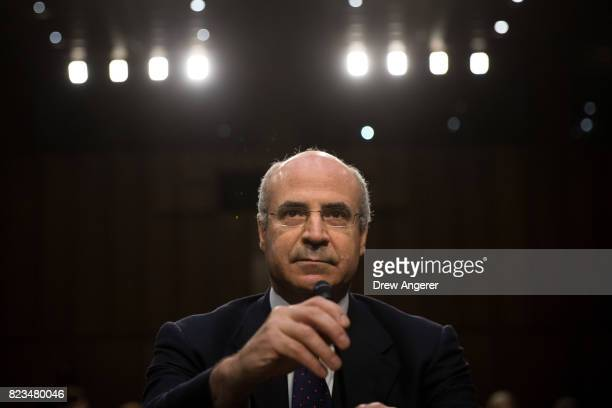 William Browder chief executive officer of Hermitage Capital Management takes his seat as he arrives for a Senate Judiciary Committee hearing titled...