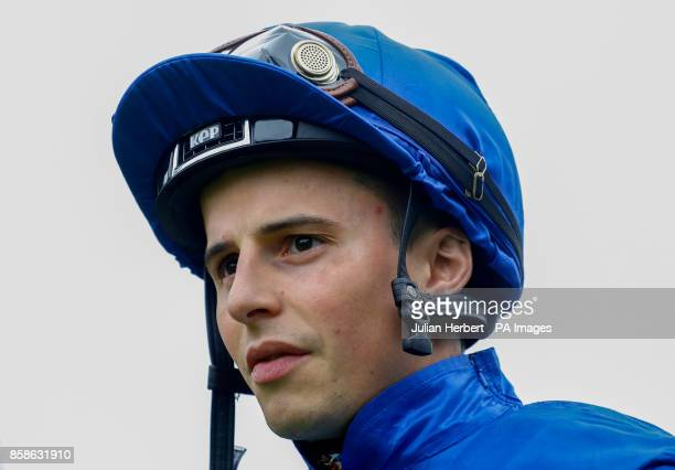 William Buick heads out to ride in The John Gust Bengough Stakes Race run at Ascot Racecourse PRESS ASSOCIATION Photo Picture date Saturday October 7...
