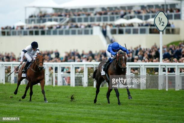 William Buick riding Blue Point win The John Guest Bengough Stakes at Ascot racecourse on October 7 2017 in Ascot United Kingdom