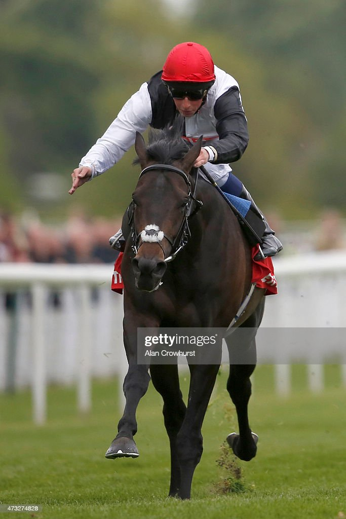 William Buick riding Golden Horn win The Betfred Dante Stake at York racecourse on May 14 2015 in York England