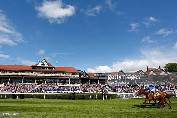 William Buick riding Maverick wave win The Betfair Huxley Stakes at Chester racecourse on May 07 2015 in Chester England