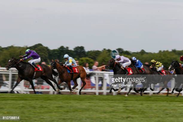 William Buick riding Mojito win The coralcouk Handicap Stakes at Sandown Park racecourse on July 8 2017 in Esher England