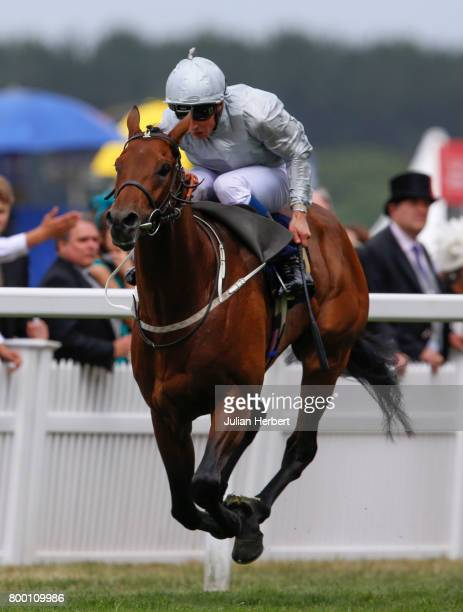 William Buick riding Permian wins The King Edward VII Stakes Race run on Day Four of Royal Ascot at Ascot Racecourse on June 23 2017 in Ascot England