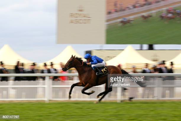 William Buick riding Rare Rhythm wins The Duke Of Edinburgh Stakes Race run on Day Four of Royal Ascot at Ascot Racecourse on June 23 2017 in Ascot...