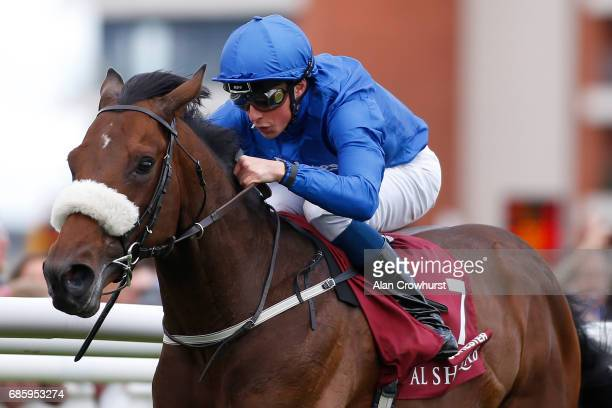 William Buick riding Ribchester win The Al Shaqab Lockinge Stakes at Newbury racecourse on May 20 2017 in Newbury England *