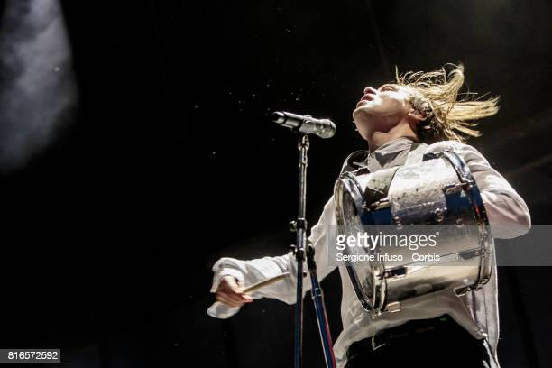 William Butler of Canadian indie rock band Arcade Fire performs on stage on July 17 2017 in Milan Italy