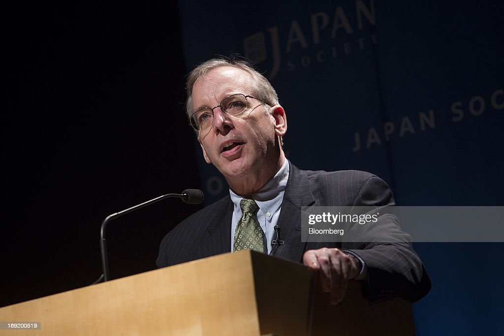 William C. Dudley, president and chief executive officer of the Federal Reserve Bank of New York, speaks to the Japan Society in New York, U.S., on Tuesday, May 21, 2013. Dudley said he has not decided whether the Fed's next move should be to enlarge or shrink its bond buying program as he called for a fresh look at its eventual retreat from record asset purchases. Photographer: Scott Eells/Bloomberg via Getty Images