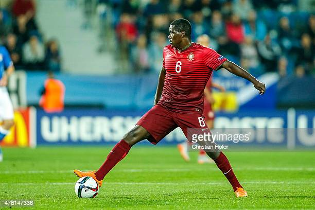 William Carvalho of Portugal controls the ball during the UEFA Under21 European Championship 2015 match between Italy and Portugal at Mestsky...