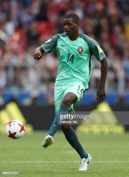 William Carvalho of Portugal in action during the FIFA Confederations Cup Russia 2017 Group A match between Russia and Portugal at Spartak Stadium on...