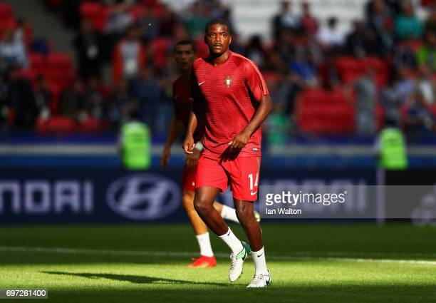 William Carvalho of Portugal warms up prior to the FIFA Confederations Cup Russia 2017 Group A match between Portugal and Mexico at Kazan Arena on...