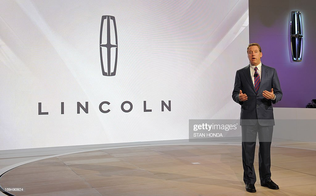 William Clay Ford Jr, Executive Cahirman of Ford, speaks to the audience as the 2014 Lincoln MKC Concept cross-over SUV is introduced at the 2013 North American International Auto Show in Detroit, Michigan, January 14, 2013. AFP PHOTO/Stan HONDA
