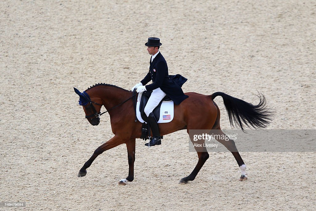 William Coleman of the United States riding Twizzel competes in the Dressage Equestrian event on Day 2 of the London 2012 Olympic Games at Greenwich Park on July 29, 2012 in London, England.