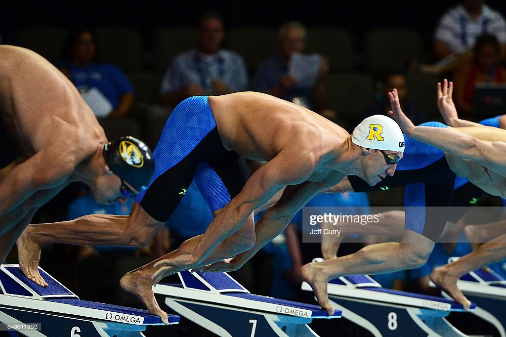 William Copeland of the United States competes in a preliminary heat of the Men's 100 meter freestyle during Day 4 of the 2016 U.S. Olympic Team Swimming Trials at CenturyLink Center on June 29, 2016 in Omaha, Nebraska.