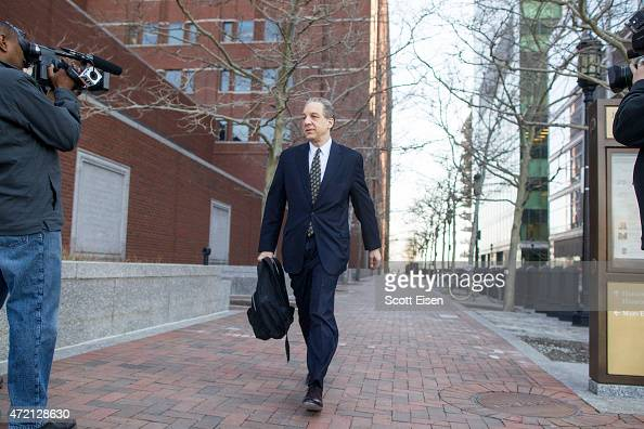 William D Weinreb lead prosecutor in the case against Boston bombing suspect Dzhokar Tsarnaev arrives at John Joseph Moakley United States Courthouse...