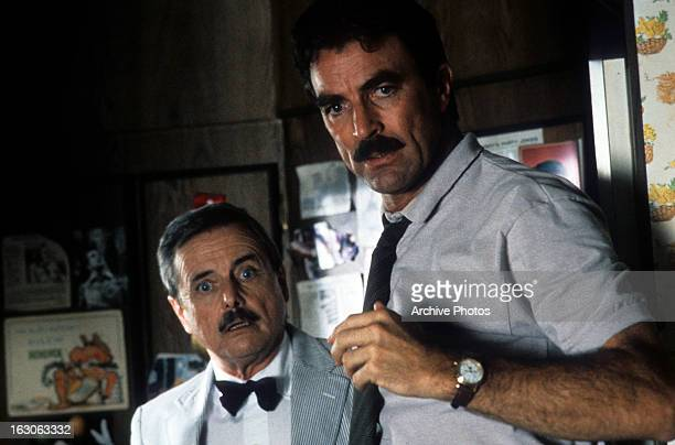 William Daniels and Tom Selleck in a scene from the film 'Her Alibi' 1989