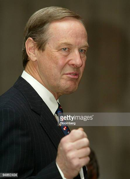 William David Wilson vicechairman of Scotiabank and chairman and CEO of Scotia Capital speaks at a business luncheon in Calgary Alberta Canada Monday...