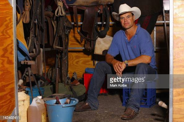 William Day poses in a stable during preparations for 2012 Sydney Royal Easter Show at the Sydney Showground on April 4 2012 in Sydney Australia The...