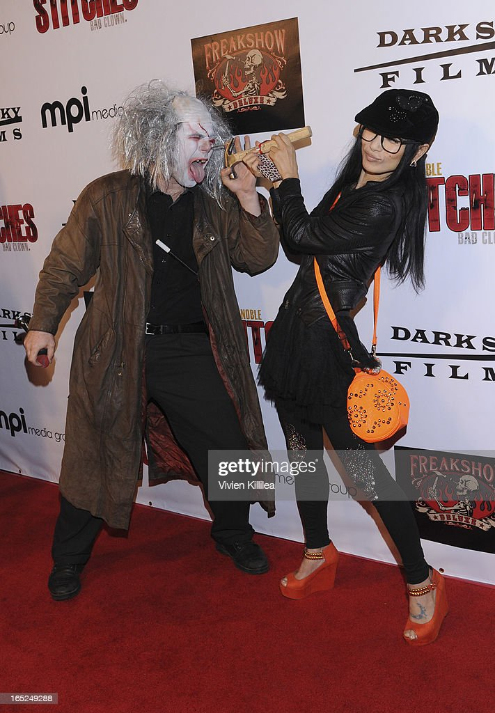 William Draven and <a gi-track='captionPersonalityLinkClicked' href=/galleries/search?phrase=Bai+Ling&family=editorial&specificpeople=201459 ng-click='$event.stopPropagation()'>Bai Ling</a> attend 'Stitches' - Los Angeles Premiere at Cinespace on April 1, 2013 in Los Angeles, California.