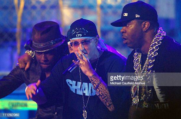 william Eminem and Busta Rhymes during 6th Annual BET Awards Show at Shrine Auditorium in Los Angeles CA United States