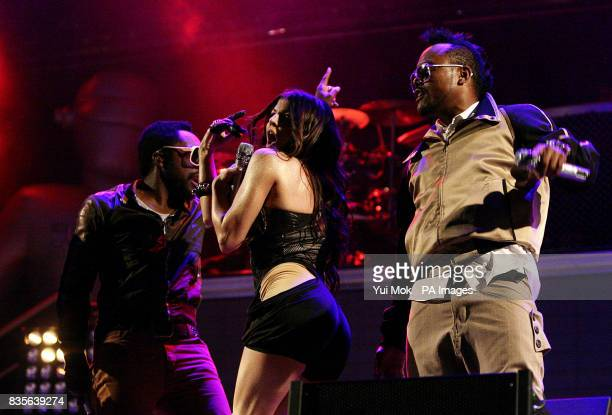 william Fergie and apldeap of The Black Eyed Peas perform during the 2009 Glastonbury Festival at Worthy Farm in Pilton Somerset