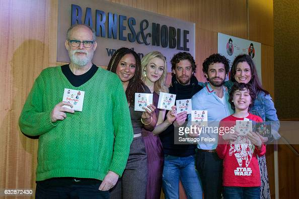 William Finn Tracie Thoms Betsy Wolfe Christian Borle Brandon Uranowitz Anthony Rosenthal and Stephanie J Block attend 'Falsettos' Cast signing...