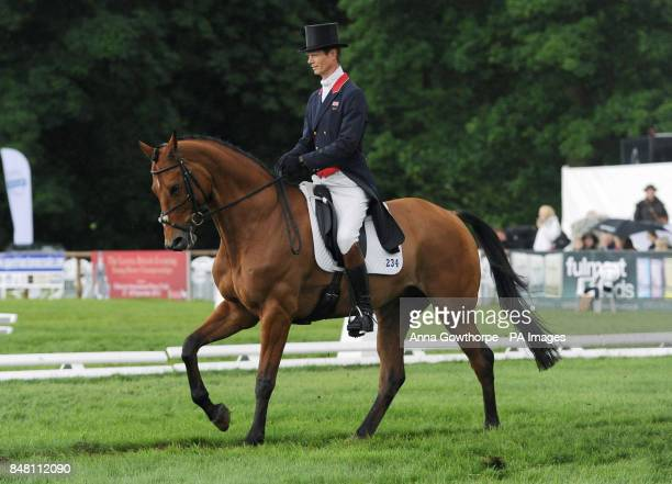William Fox Pitt riding Neuf Des Coeurs in the CIC*** Dressage during the Bramham International Horse Trials at Bramham Park Wetherby