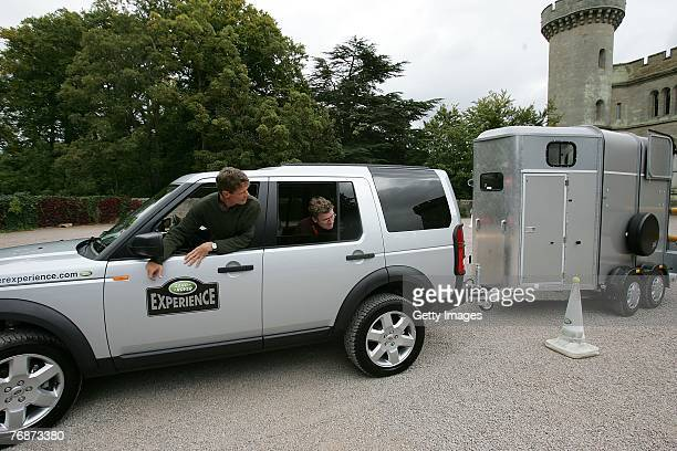 William Fox Pitt takes part in a task during the Land Rover British Eventing OffRoading Day at Eastnor Castle on September 19 2007 in Eastnor England