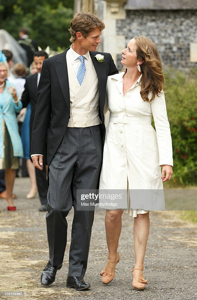 <a gi-track='captionPersonalityLinkClicked' href=/galleries/search?phrase=William+Fox-Pitt&family=editorial&specificpeople=647065 ng-click='$event.stopPropagation()'>William Fox-Pitt</a> and Alice Plunkett attend the wedding of Alicia Fox-Pitt and Sebastian Stoddart at The Church of the Holy Cross in Goodnestone on July 20, 2013 near Dover, England.