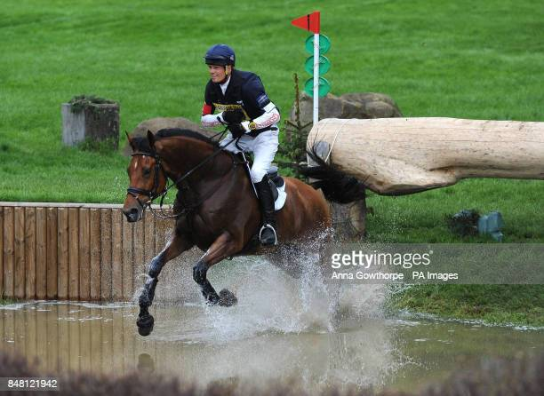 William FoxPitt rides Neuf Des Coeurs during the CIC*** cross country event during the Bramham International Horse Trials at Bramham Park Wetherby