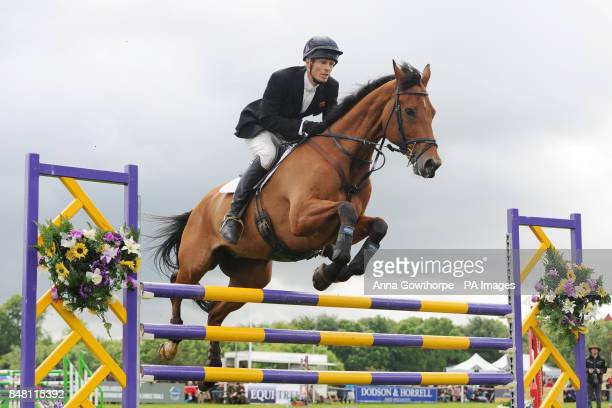 William FoxPitt rides Neuf Des Coeurs during the CIC*** showjumping event during the Bramham International Horse Trials at Bramham Park Wetherby