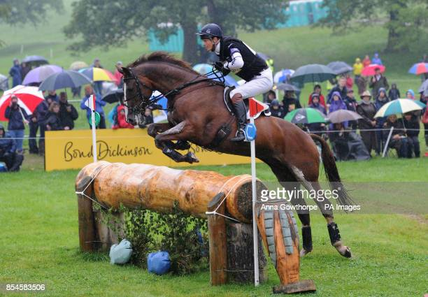 William FoxPitt riding Chilli Morning competes in the CIC3* cross country event during the Bramham International Horse Trials at Bramham Park West...