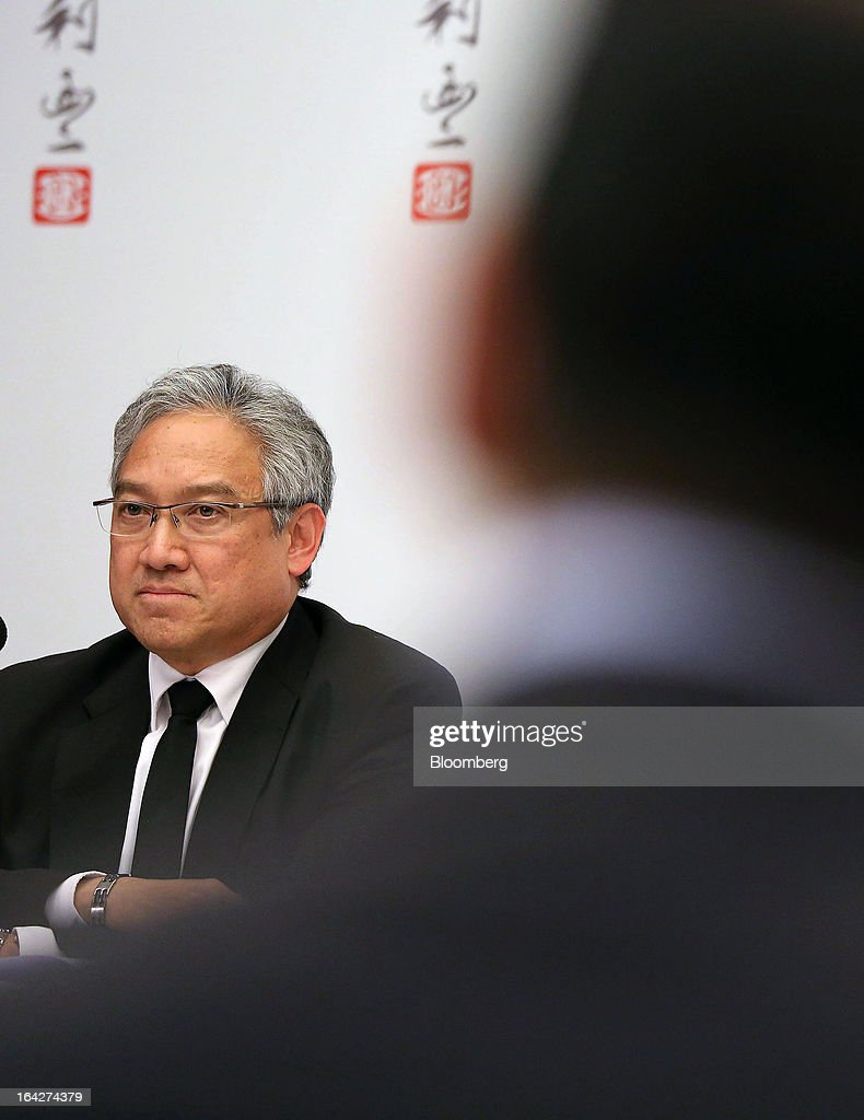 William Fung, chairman of Li & Fung Ltd., attends a news conference in Hong Kong, China, on Thursday, March 21, 2013. Li & Fung will miss its target for profit in 2013 after net income fell for the first time in four years at the supplier to Wal-Mart Stores Inc. and Target Corp. Photographer: Jessica Hromas/Bloomberg via Getty Images