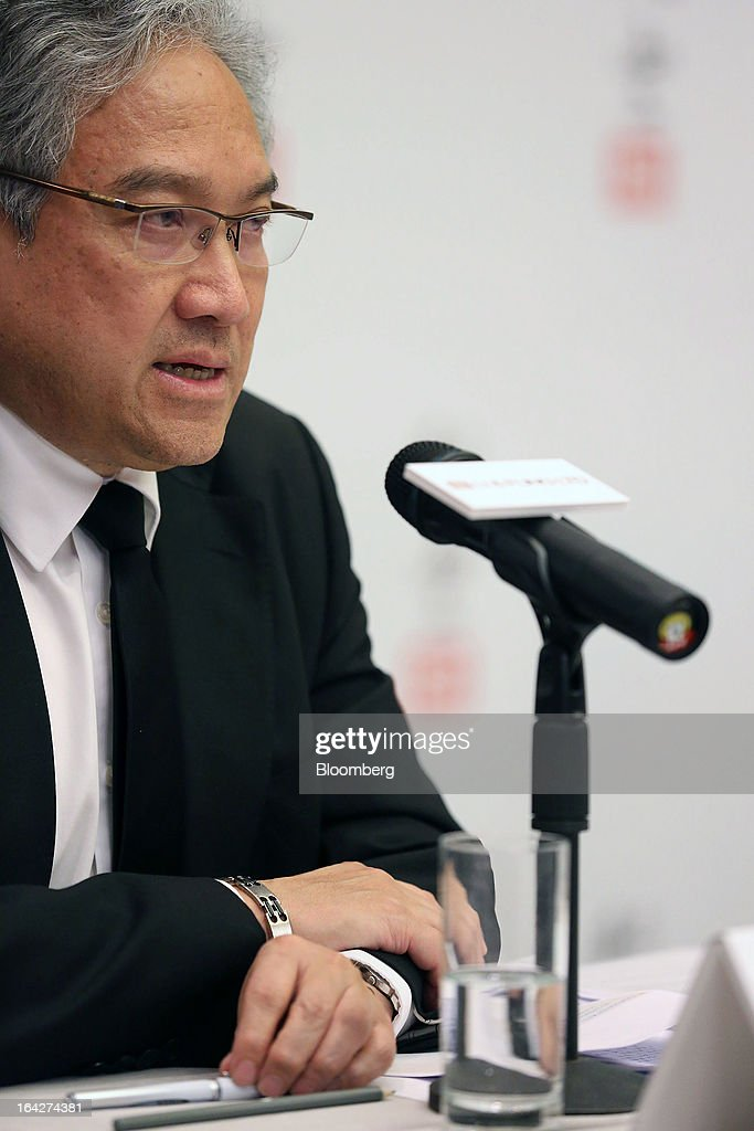 William Fung, chairman of Li & Fung Ltd., speaks during a news conference in Hong Kong, China, on Thursday, March 21, 2013. Li & Fung will miss its target for profit in 2013 after net income fell for the first time in four years at the supplier to Wal-Mart Stores Inc. and Target Corp. Photographer: Jessica Hromas/Bloomberg via Getty Images